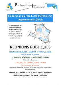 Elaboration du Plan Local d'Urbanisme Intercommunal (PLUi)